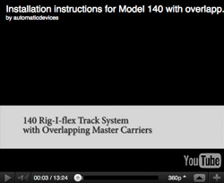 Model 140 with overlapping master carriers Installation Instructions